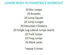 A do-anywhere plyometrics workout! #FitFluential #getafterit