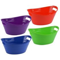Convenient, easy storage solutions for all your organization needs! Sturdy oval-shaped plastic storage bins come in bright, cheerful colors and are ideal for countertop organization and shelf storage Plastic Items, Plastic Storage, Storage Shelves, Easy Storage, Shelf, Countertop Organization, Storage Solutions, Bright Colors, Packing