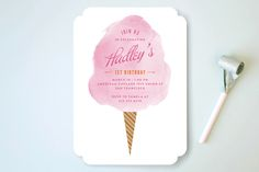 Carnival Candy Kids Party Invitations by Monica Tuazon at minted.com