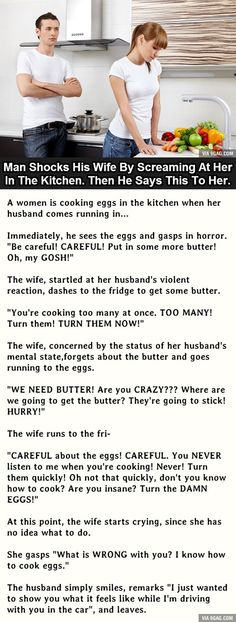 Man Shocks His Wife By Screaming At Her In The Kitchen...