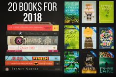 20 Books for 2018: a list of books I'd like to tackle in the new year. There's a little of everything -- middle grade novels, mysteries, and a good dose of nonfiction as well.