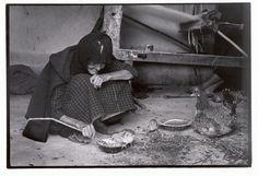 """Greece. Crete. 1964. Old woman and chicks. """"A Greek Portfolio"""" p.94 © Costa Manos/Magnum Photos"""
