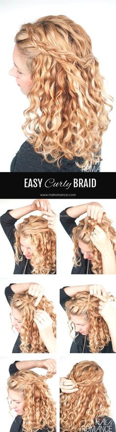 Hair Romance – Easy half up braid tutorial in curly hair Hair Romance – Easy half up braid tutorial in curly hair 4 www. Source by nicehaircuts Hair makeup half up Braided Hairstyles For Wedding, Easy Hairstyles, Naturally Curly Hairstyles, 1950s Hairstyles, Ethnic Hairstyles, Amazing Hairstyles, Prom Hairstyles, Curly Hair Braids, 4 Braids