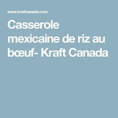 Casserole mexicaine de riz au bœuf- Kraft Canada