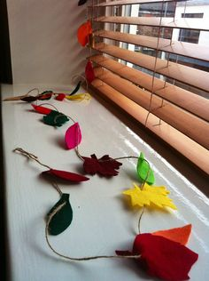 #felt #craft #autumn #thanksgiving #garland