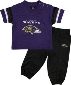 NFL Jersey's Baltimore Ravens Toddler Football Jersey and Pant Set - Purple
