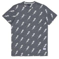Paul Smith Men's T-Shirts   Grey Marl Jacquard Lightning Bolt T-Shirt