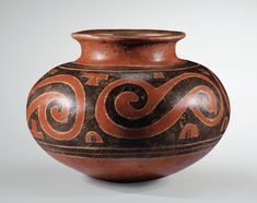 vase globulaire à African Pottery, Native American Pottery, Native American Art, Farmhouse Pottery, Inca, Ocean Art, Ancient Art, Ceramic Art, Archaeology