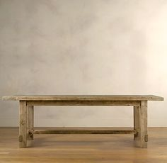 """Restoration Hardware's """"Farmhouse Salvaged Wood Table"""". Possible DIY project?"""