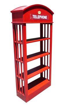 D-Art Mahogany London Telephone Bookcase