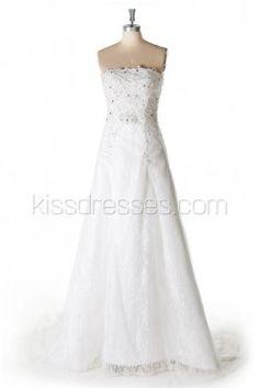 Sweetheart Neckline Floor-length Wedding Dress With Crystal Embellishment