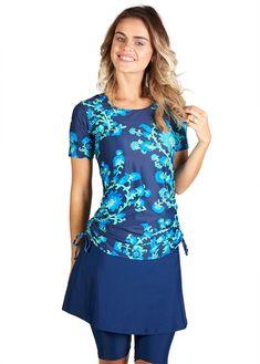 bd1fd9bbde Shop the latest collection of Ella Mae Modest Swimsuit Women Short Sleeve  Swim Shirt Swim Skirt Knee Length Swim Capri Leggings (S-XXXL) from the  most ...