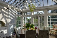 Conservatory Breakfast Room- look i want for the screen porch House Design, House, South Shore Decorating, Home, Conservatory Dining Room, Sunroom, Outdoor Rooms, Beautiful Homes, Dream Rooms