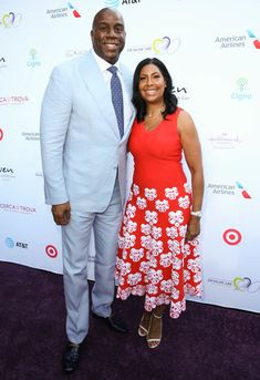 MALIBU, CA - JULY Honoree Earvin 'Magic' Johnson NBA and wife Cookie Johnson attend The HollyRod Foundation's Annual DesignCare Gala at Private Residence on July 2018 in Malibu, California. (Photo by Robin L Marshall/Getty Images) Famous Celebrity Couples, Famous Couples, Celebrity Photos, Beautiful Goddess, My Black Is Beautiful, Beautiful Couple, Black Celebrities, Beautiful Celebrities, Celebs