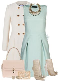 Attending a formal event? Wear this mint toned Bruuns Bazaar BILLIE Cocktail dress / Party dress we found on zalando.co.uk. Styled in a pristine shade of ivory, this fitted and flared virgin wool coat from Moschino lends an impeccable feminine edge to your outerwear collection. Ivory virgin wool, collarless, long sleeves, buttoned cuffs, double-breasted button-down …