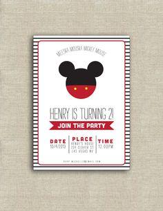 Invitation anniversaire de Mickey Mouse