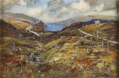 § JAMES KAY R.S.A., R.S.W (SCOTTISH 1858-1942) VIEW FROM WHISTLEFIELD 31cm x 46cm (12in x 18in)