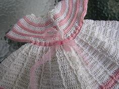 VillaTuta: Virkattu vauvan mekko Baby Dress, Crochet Baby, Dresses, Fashion, Vestidos, Moda, Baby Boy Dress, Fashion Styles, Baby Gown