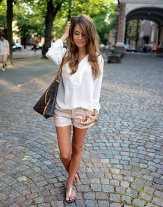 Love the blush color of the shorts