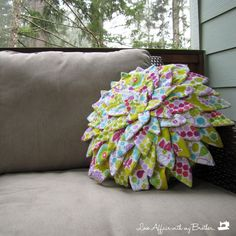 flower pillow - I'll love you forever if someone would make this for me in lavenders and teals.