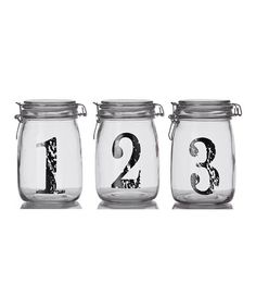 Take a look at this Vintage 1-2-3 Bail & Trigger Jar Set by Home Essentials and Beyond on #zulily today!