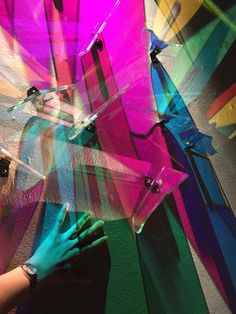 """Artist Stephen Knapp Creates Prismatic """"Paintings"""" on Museum Walls with Refracted Light"""