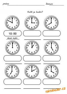 Naučte se hodiny Kids Math Worksheets, Preschool Printables, Math Activities, Math Games, Spanish Songs, Learning Spanish, Math For Kids, Fun Math, Learn To Tell Time