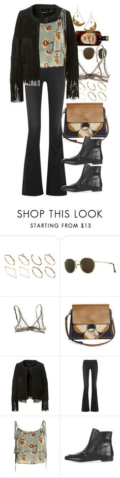 """Untitled #10505"" by nikka-phillips ❤ liked on Polyvore featuring ASOS, Ray-Ban, Chloé, ThePerfext, rag & bone, Topshop and Tatty Devine"