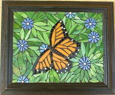 Monarch -Butterflies and Moths- a series of mosaic wall hangings- mosaic of stained glass. Stained Glass Crafts, Stained Glass Designs, Mosaic Crafts, Mosaic Projects, Stained Glass Patterns, Mosaic Tray, Mosaic Glass, Mosaic Tiles, Glass Art