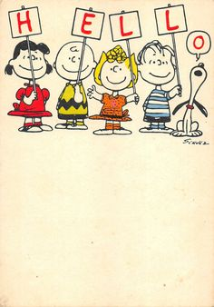 Hello (Snoopy and co.)