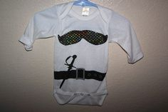 Baby Boy Pirate Onesie W Bling Look Mustache by sososophie on Etsy, $12.00