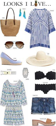 7b7c84b17987a LOOKS I LOVE // TROPICAL BLUES. Travel AttireBeach Vacation OutfitsFashion  ...