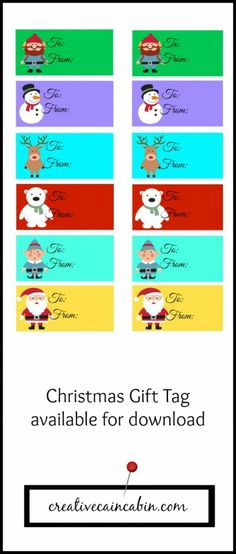 Kids Holiday Gift Tag Printable