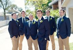 Navy for Groom/Navy and Khaki for Groomsmen