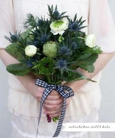 artichoke and kale bouquet