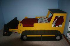"""Rugueux et raboteux Bull Dozer """"bulldozer Construction sur le thème Childrens Bed - Twin taille matelas (taille disponible) sur Etsy, $595.00"""