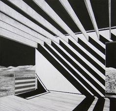 Alison Moffett  gropius house, walter gropius  graphite and ink on paper, 23 x 21cm 2008