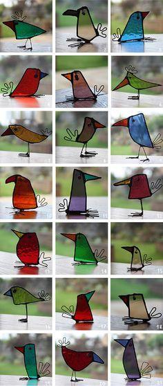 Vitraux oiseaux