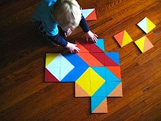 Floor Size Geometric Art Puzzle - Things to Make and Do, Crafts and Activities for Kids - The Crafty Crow