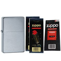 Zippo 23025 Vintage Series 1937 Brushed Chrome Windproof Pocket Lighter with Two Flint Card and One Wick Card >>> For more information, visit image link.