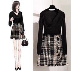 Korean Girl Fashion, Korean Fashion Trends, Ulzzang Fashion, Asian Fashion, Look Fashion, Fashion Outfits, Classy Dress, Classy Outfits, Stylish Outfits