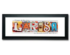This 12x36 Wedding Name Sign is sure to add a unique and colorful statement on your special day. Names are arranged from fine art photos of vintage Vegas neon signs that have graced the fronts of storied resorts such as the Sahara Hotel & Casino, Stardust, Binion's, Golden Nugget and more.  These images are professionally printed on 12x36 Kodak Endura metallic paper for stunning depth, color and clarity. The prints can be written on with any color of Sharpie marker and will not smudge.