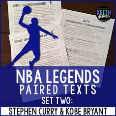 This includes three sets of paired texts that allow your students to compare and contrast two of the most famous players in the NBA. Quizzes are included for each set of paired texts.
