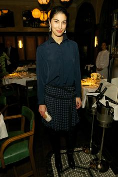 Caroline Issa at the London Collections dinner to celebrate men's fashion.