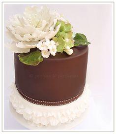 Signature Peonies and Petticoats Cake by www.peoniesandpetticoats.com