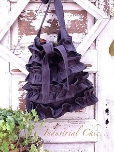 Love the color and the ruffles!  NEW  Fall Color  Vintage Market BagIndustrial by CamillaCotton, $59.00