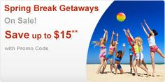 Take $15 off Spring Break Getaways at Cheapoair with code BREAK15