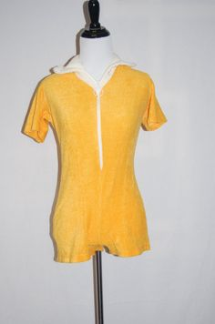 1960s Frisky Yellow Terry Play Suit  Yellow by LittleGhostVintage, $22.00