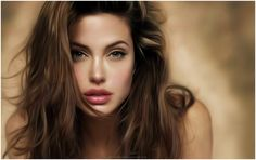 ANGELINA JOLIE PAINTING HD WALLPAPER