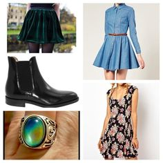 Wish list! ☺️💕 Hello! So I have a few items I'm looking for, and if you could help me out it'd be great! I'm mostly looking to trade, but if it's not too expensive I'll definitely buy! Well, here goes: green velvet skirt (and also almost anything velvet 😍), chic denim dress, Chelsea boots, a mood ring, floral skater dress/skirt, moon shaped nose stud, plaid dress, dr marten Mary Janes, thigh highs, velvet platforms, leather skirt & pants, lace skater skirt, button up skirt, and Litas…